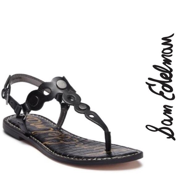 Sam Edelman Shoes - Sam Edelman Gilly T-Strap Black Sandal, 7.5